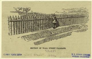 Wall street la palizzata di nuova amsterdam